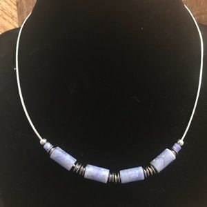 Silpada 925 Sterling Silver Blue Stone Necklace